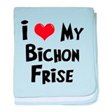 I Love My Bichon Frise baby blanket