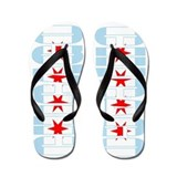 Chicago Style Flag Flip Flops