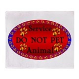 Service Animal DO NOT PET Rai Throw Blanket