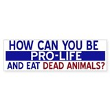 How can you be pro life...Bumper Bumper Sticker