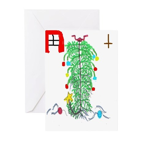 Upside down tree Greeting Cards (Pk of 10)