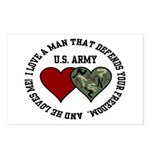 US Army - I love a man that.. Postcards (Package o