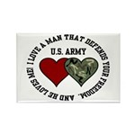 US Army - I love a man that.. Rectangle Magnet