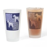 Funny Irish terrier Drinking Glass