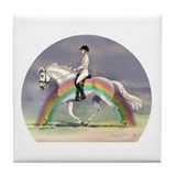 Rainbow Riding Tile Coaster