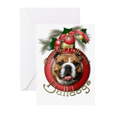 Christmas - Deck the Halls - Bulldogs Greeting Car