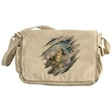 Torn Wolf Messenger Bag