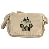 Wolf Print Messenger Bag