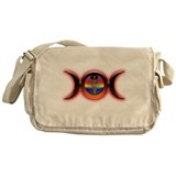 Triple Moon Red Messenger Bag