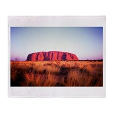 Uluru: Unique Moment Throw Blanket