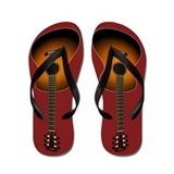 Acoustic Guitar Flip Flops (red)