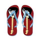Electric Guitar Flip Flops (red)
