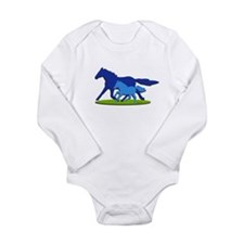Horses Long Sleeve Infant Bodysuit