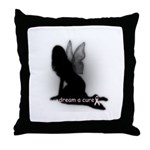 Dream a Cure Breast Cancer Throw Pillow