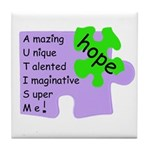 Autism Hope Tile Coaster