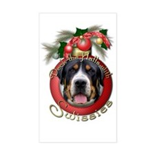 Christmas - Deck the Halls - Swissies Decal