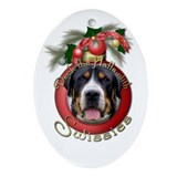 Christmas - Deck the Halls - Swissies Ornament (Ov