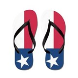 Texas Flag Flip Flops