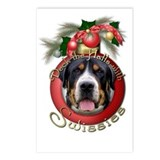 Christmas - Deck the Halls - Swissies Postcards (P