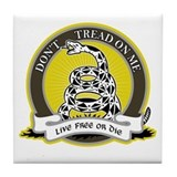 Don't Tread on Me Tile Coaster