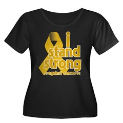Stand Strong Appendix Cancer Women's Plus Size Sco
