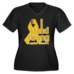 Stand Strong Appendix Cancer Women's Plus Size V-N