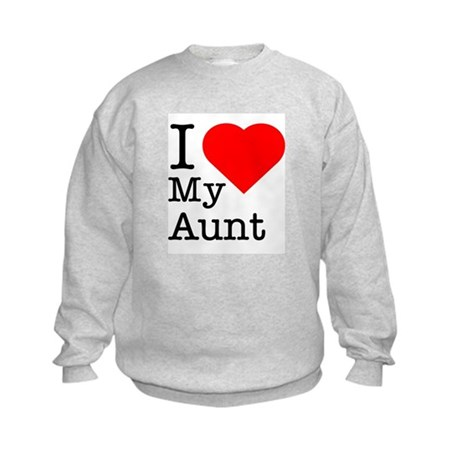 I Love My Aunt Kids Sweatshirt