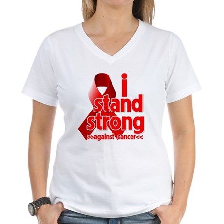 Stand Strong Blood Cancer Women's V-Neck T-Shirt