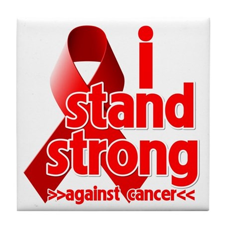 Stand Strong Blood Cancer Tile Coaster