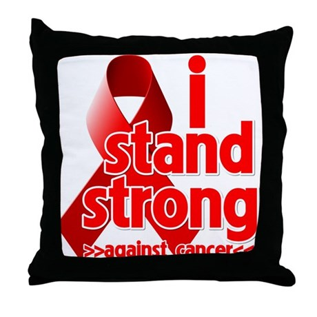 Stand Strong Blood Cancer Throw Pillow