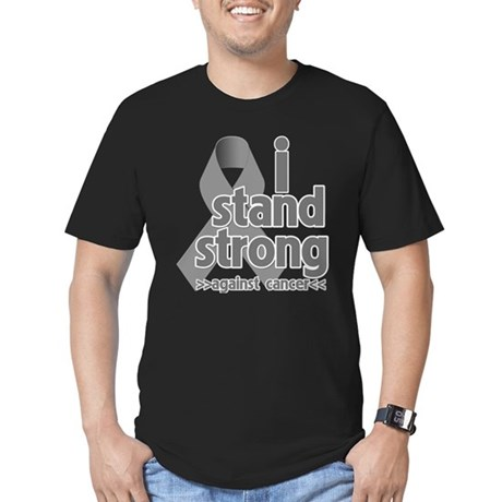 Stand Strong Brain Cancer Men's Fitted T-Shirt (da