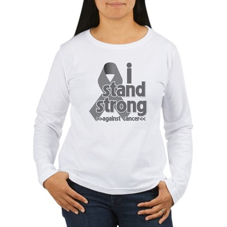 Stand Strong Brain Cancer Women's Long Sleeve T-Sh