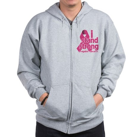 Stand Strong Breast Cancer Zip Hoodie