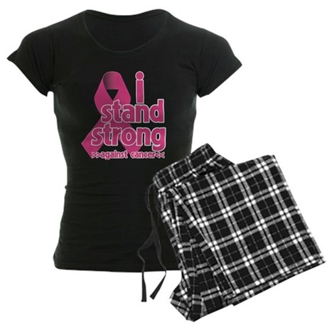 Stand Strong Breast Cancer Women's Dark Pajamas