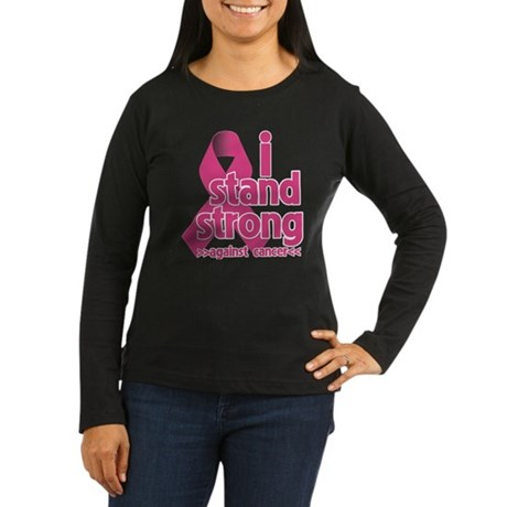 Stand Strong Breast Cancer Women's Long Sleeve Dar