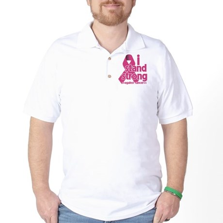 Stand Strong Breast Cancer Golf Shirt