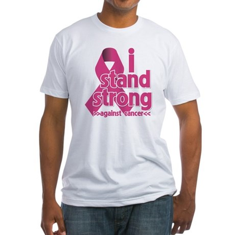 Stand Strong Breast Cancer Fitted T-Shirt