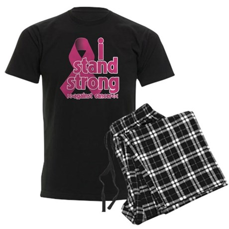 Stand Strong Breast Cancer Men's Dark Pajamas