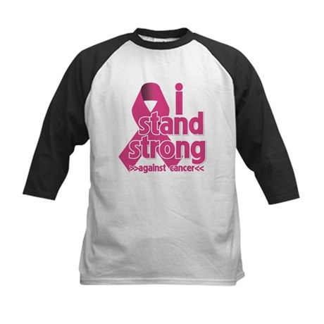 Stand Strong Breast Cancer Kids Baseball Jersey