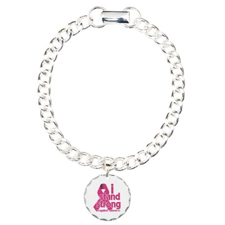 Stand Strong Breast Cancer Charm Bracelet, One Cha