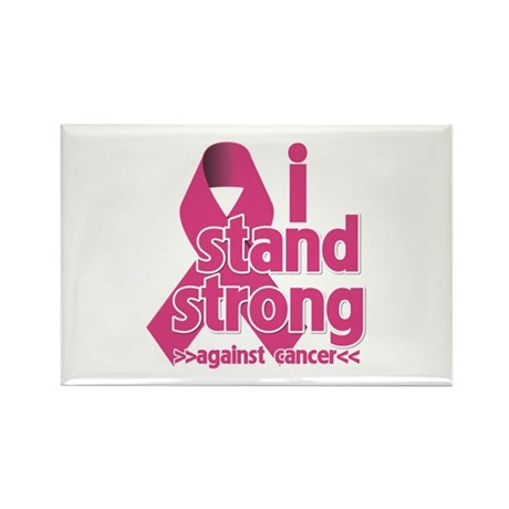 Stand Strong Breast Cancer Rectangle Magnet (100 p