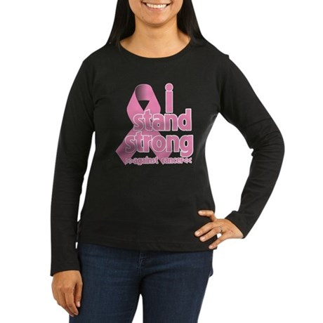 Breast Cancer Stand Strong Women's Long Sleeve Dar