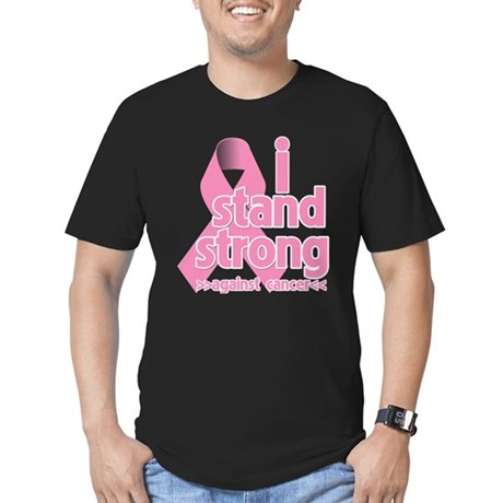 Breast Cancer Stand Strong Men's Fitted T-Shirt (d