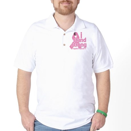Breast Cancer Stand Strong Golf Shirt