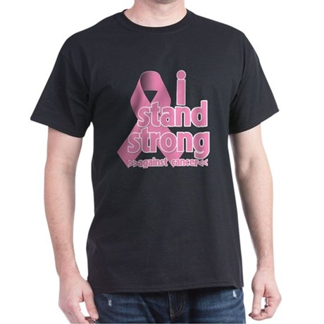 Breast Cancer Stand Strong Dark T-Shirt