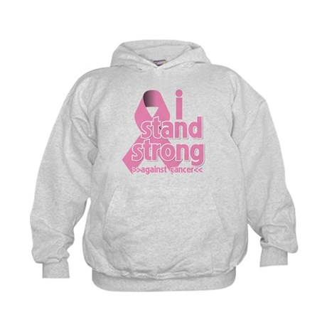 Breast Cancer Stand Strong Kids Hoodie