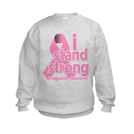Breast Cancer Stand Strong Kids Sweatshirt