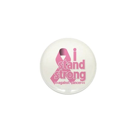 Breast Cancer Stand Strong Mini Button (100 pack)