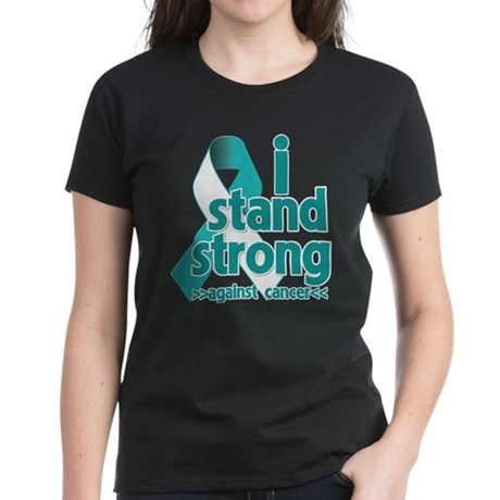 Stand Strong Cervical Cancer Women's Dark T-Shirt