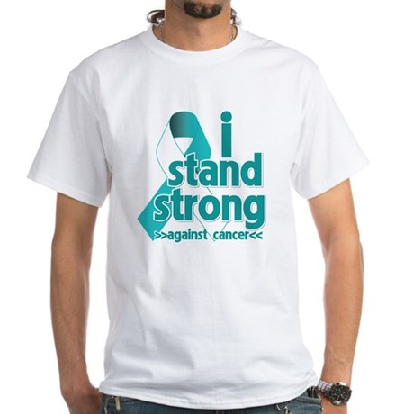 Stand Strong Cervical Cancer White T-Shirt